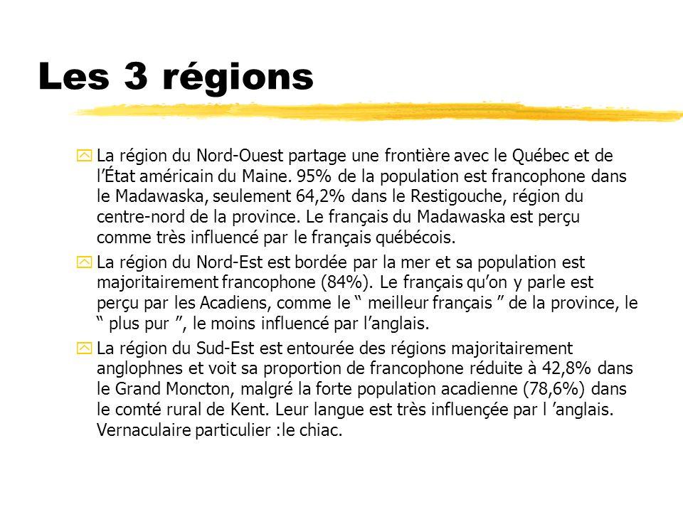 Les 3 régions