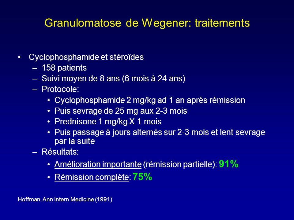 Granulomatose de Wegener: traitements