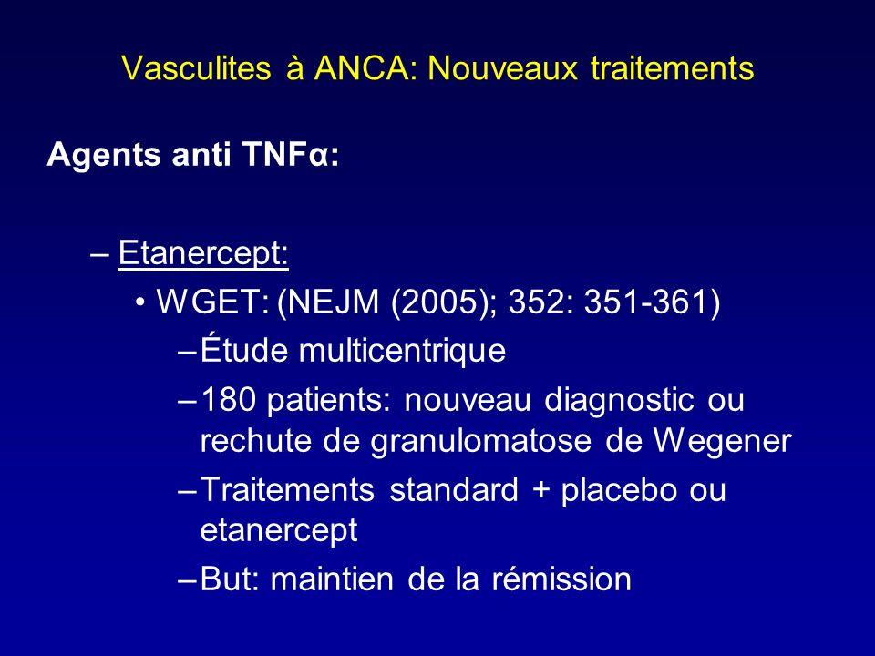 Vasculites à ANCA: Nouveaux traitements