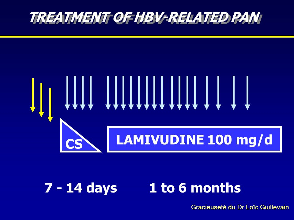 TREATMENT OF HBV-RELATED PAN