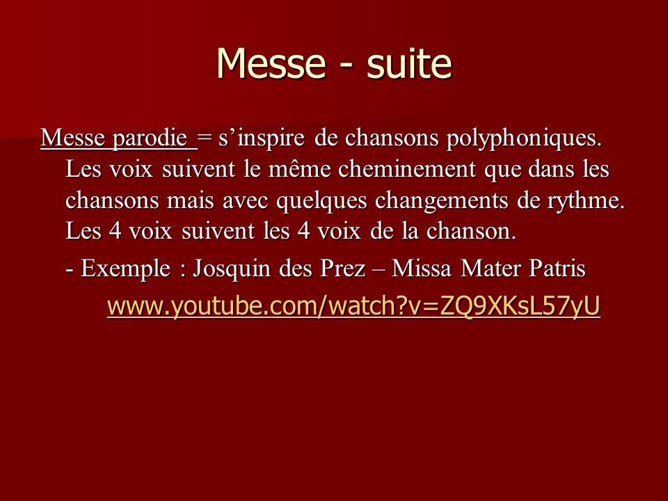 Messe - suite