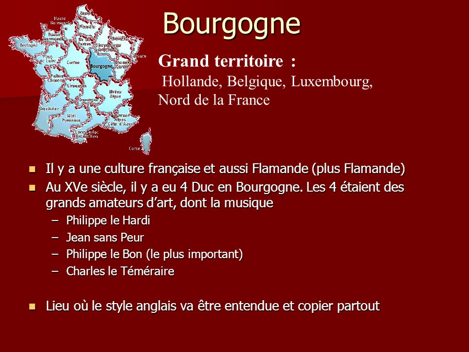 Bourgogne Grand territoire :
