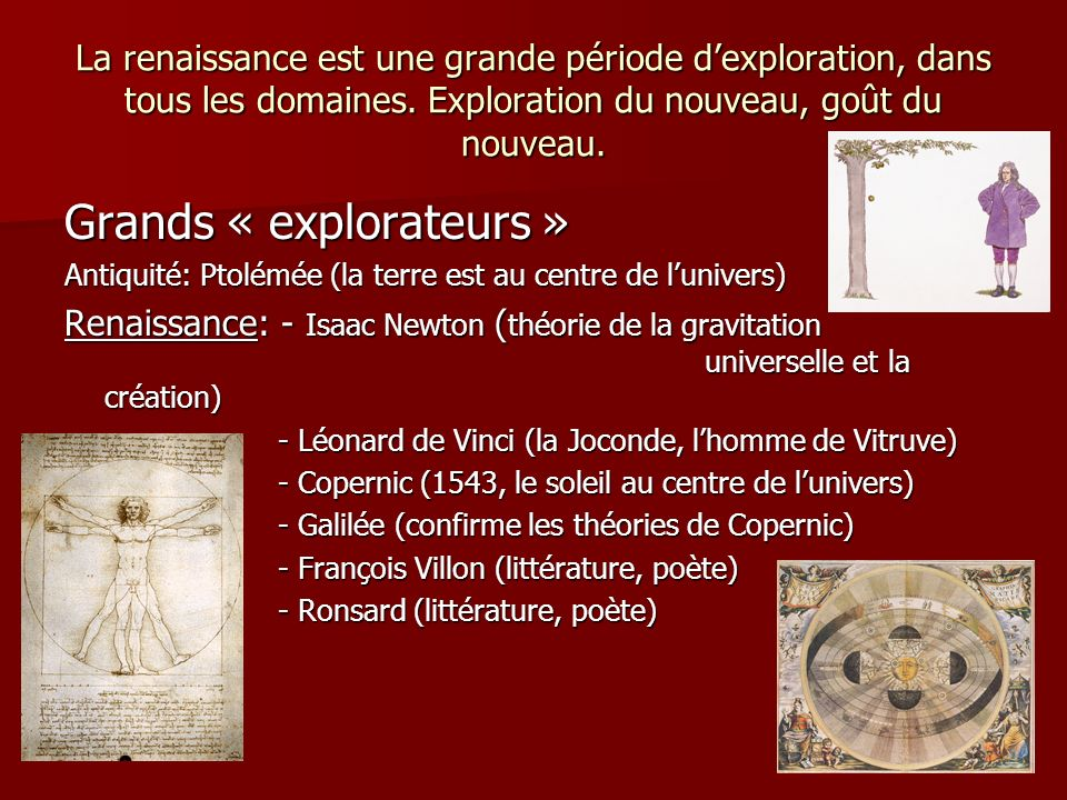 Grands « explorateurs »