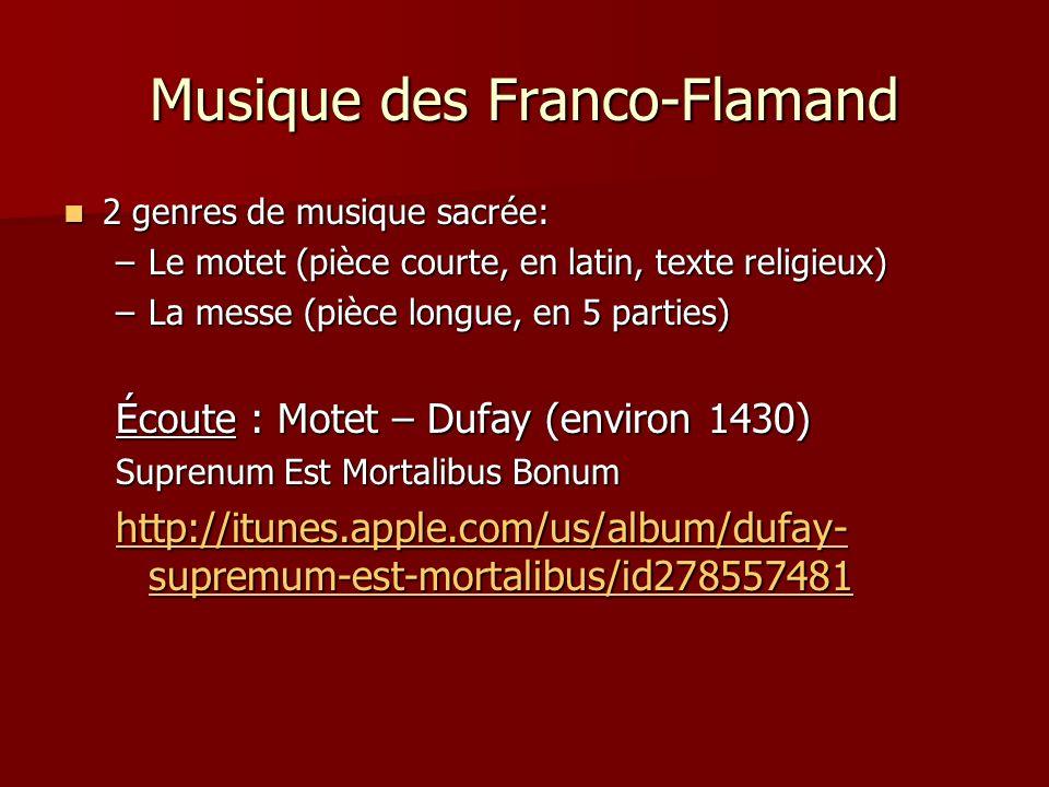 Musique des Franco-Flamand