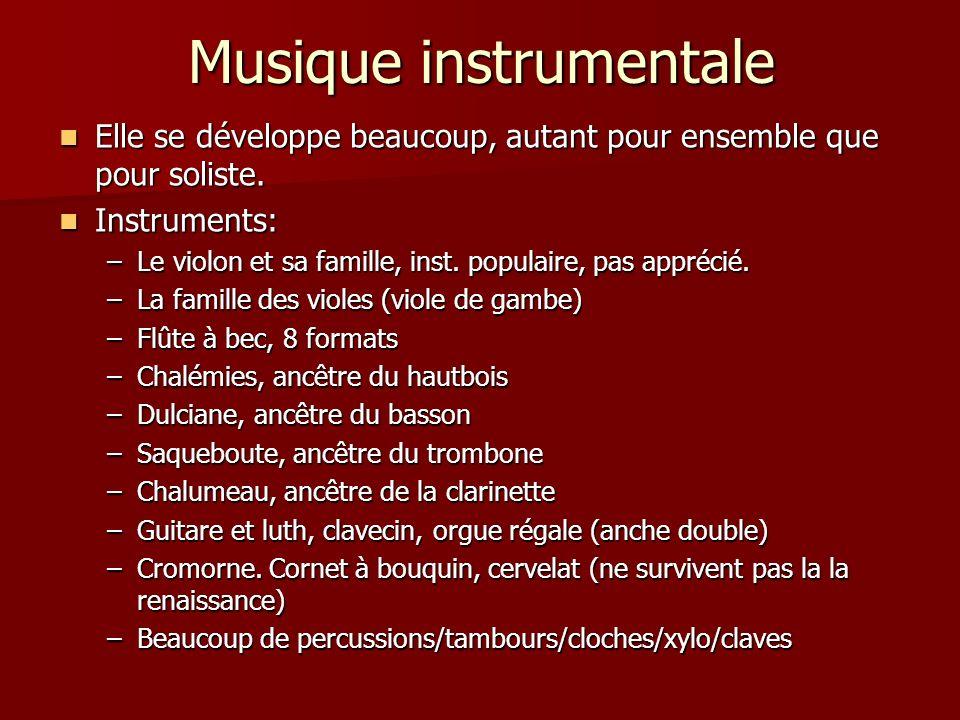 Musique instrumentale