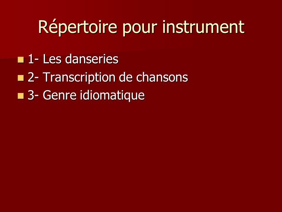 Répertoire pour instrument