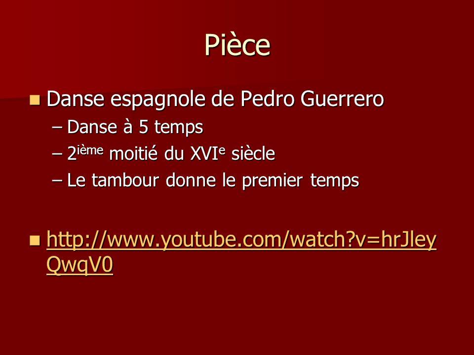 Pièce Danse espagnole de Pedro Guerrero