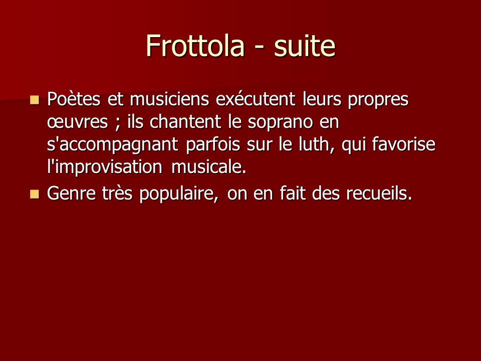 Frottola - suite