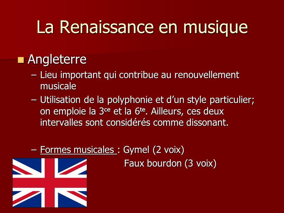 La Renaissance en musique