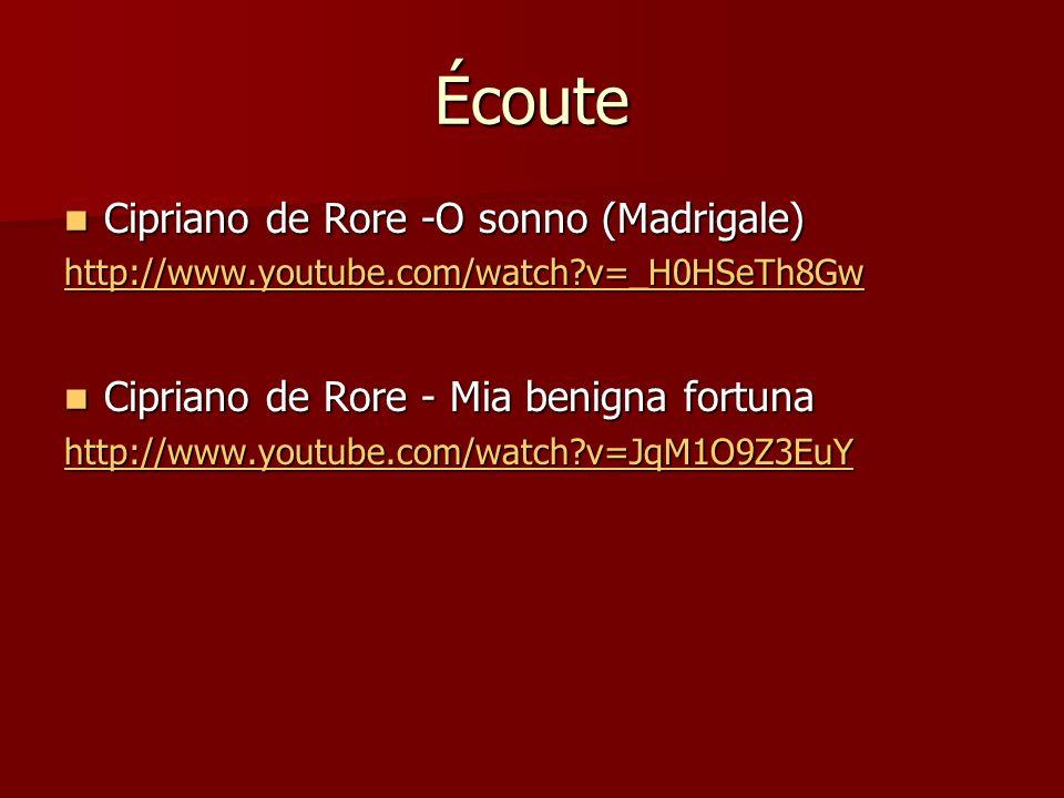 Écoute Cipriano de Rore -O sonno (Madrigale)