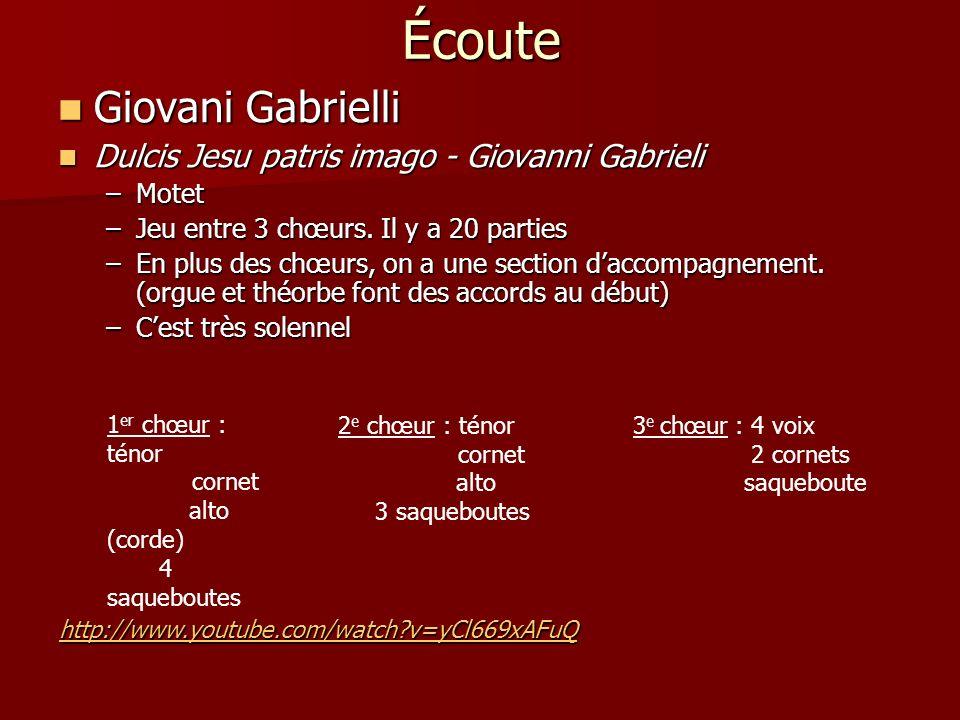 Écoute Giovani Gabrielli Dulcis Jesu patris imago - Giovanni Gabrieli