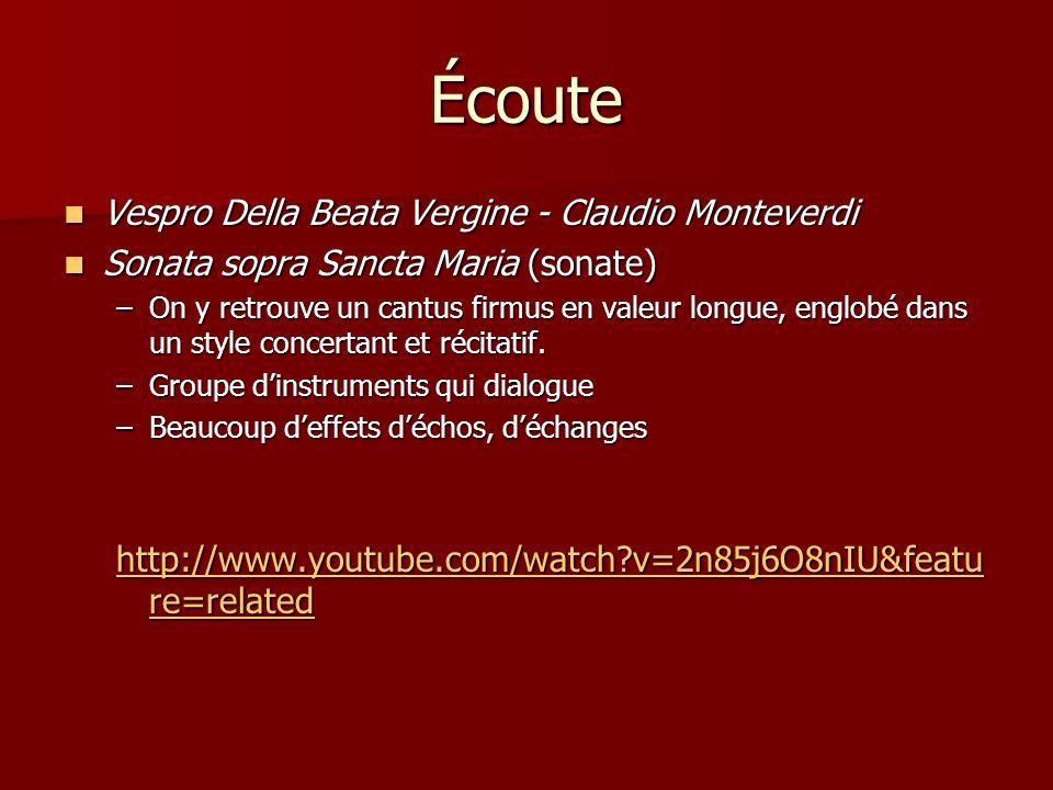 Écoute Vespro Della Beata Vergine - Claudio Monteverdi