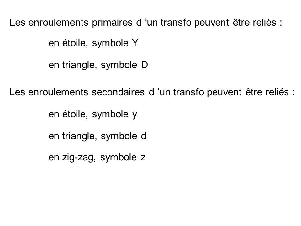 Les enroulements primaires d 'un transfo peuvent être reliés :