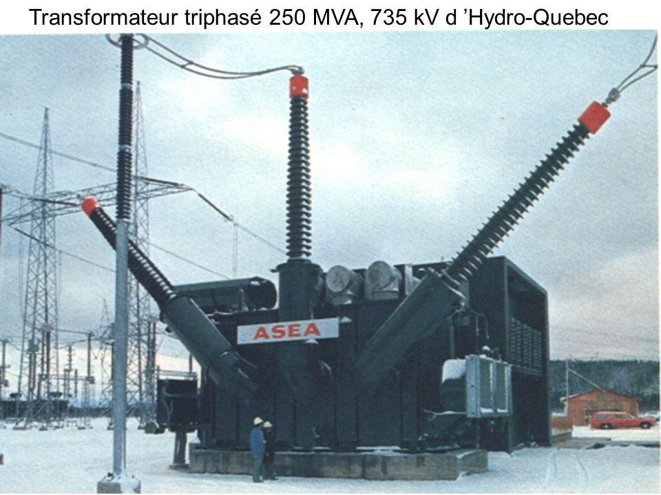 Transformateur triphasé 250 MVA, 735 kV d 'Hydro-Quebec