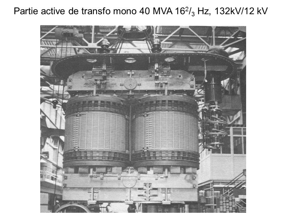 Partie active de transfo mono 40 MVA 162/3 Hz, 132kV/12 kV