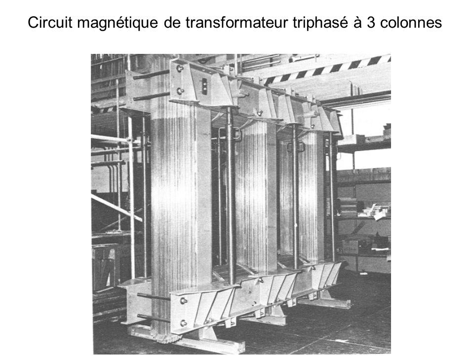 Circuit magnétique de transformateur triphasé à 3 colonnes