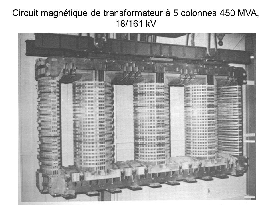 Circuit magnétique de transformateur à 5 colonnes 450 MVA,