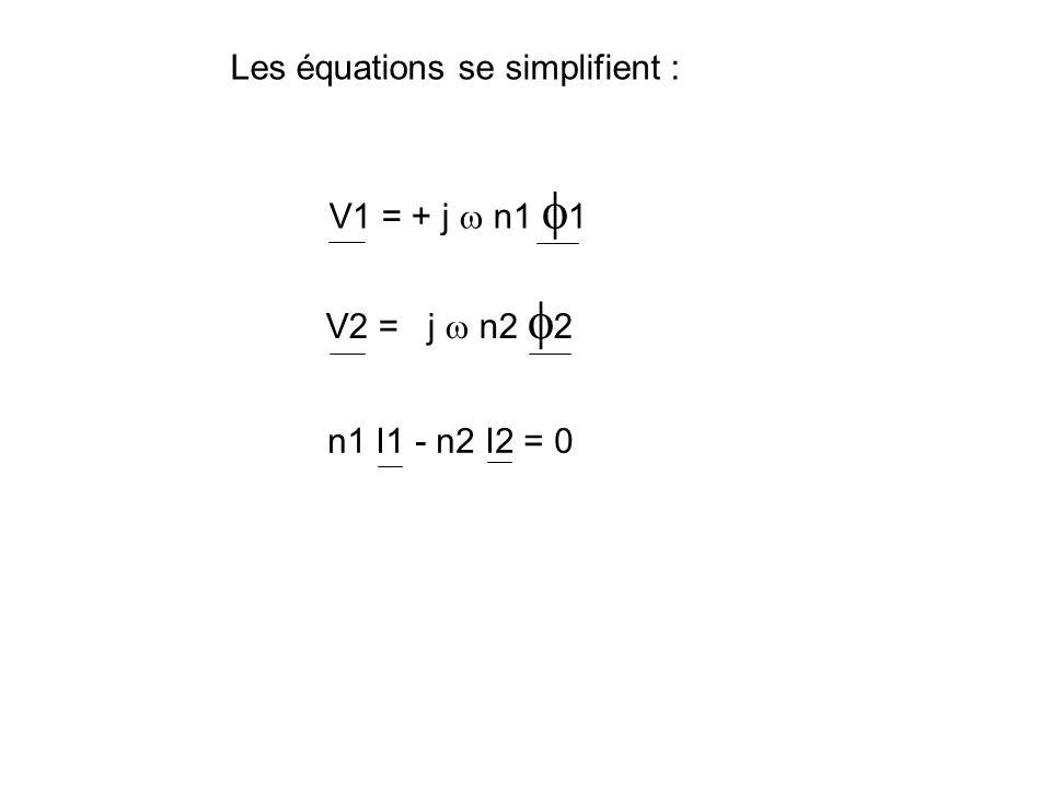 Les équations se simplifient :