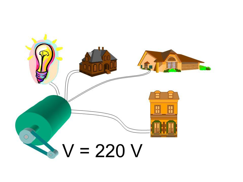 V = 220 V