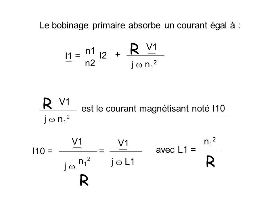 R R R Le bobinage primaire absorbe un courant égal à : V1 + j  n12 n1
