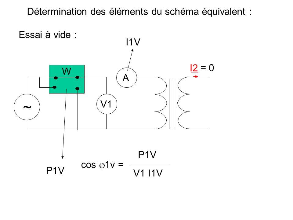 Détermination des éléments du schéma équivalent :