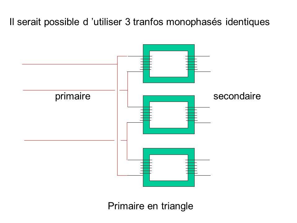 Il serait possible d 'utiliser 3 tranfos monophasés identiques