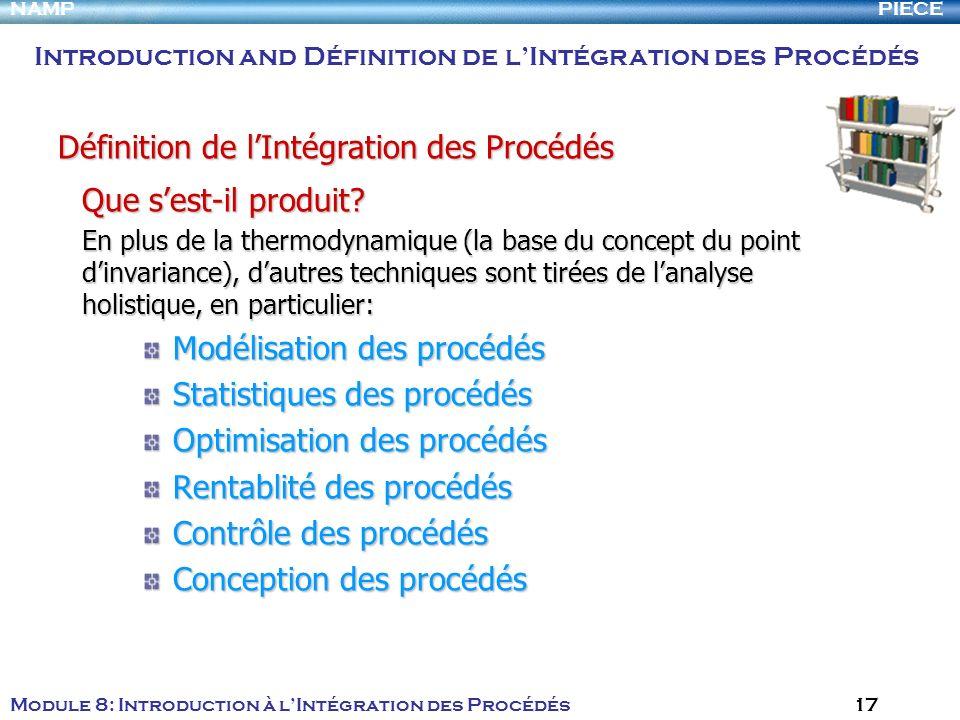 Définition de l'Intégration des Procédés