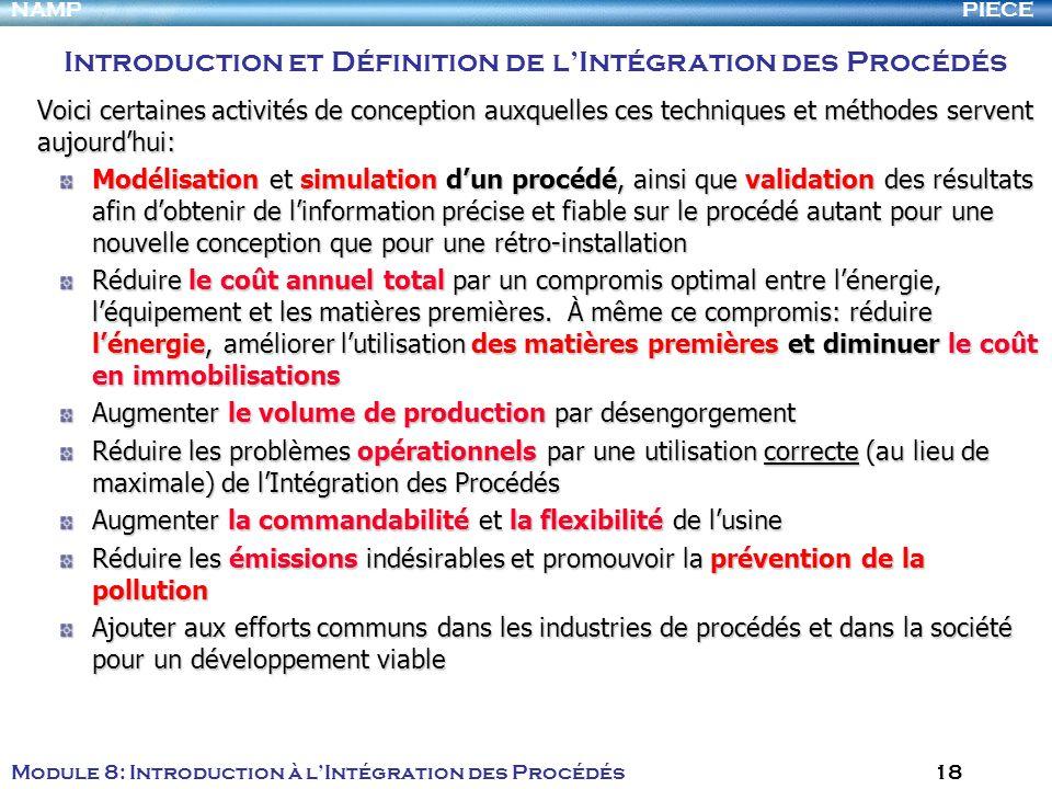 Introduction et Définition de l'Intégration des Procédés