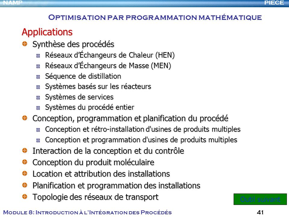 Applications Optimisation par programmation mathématique
