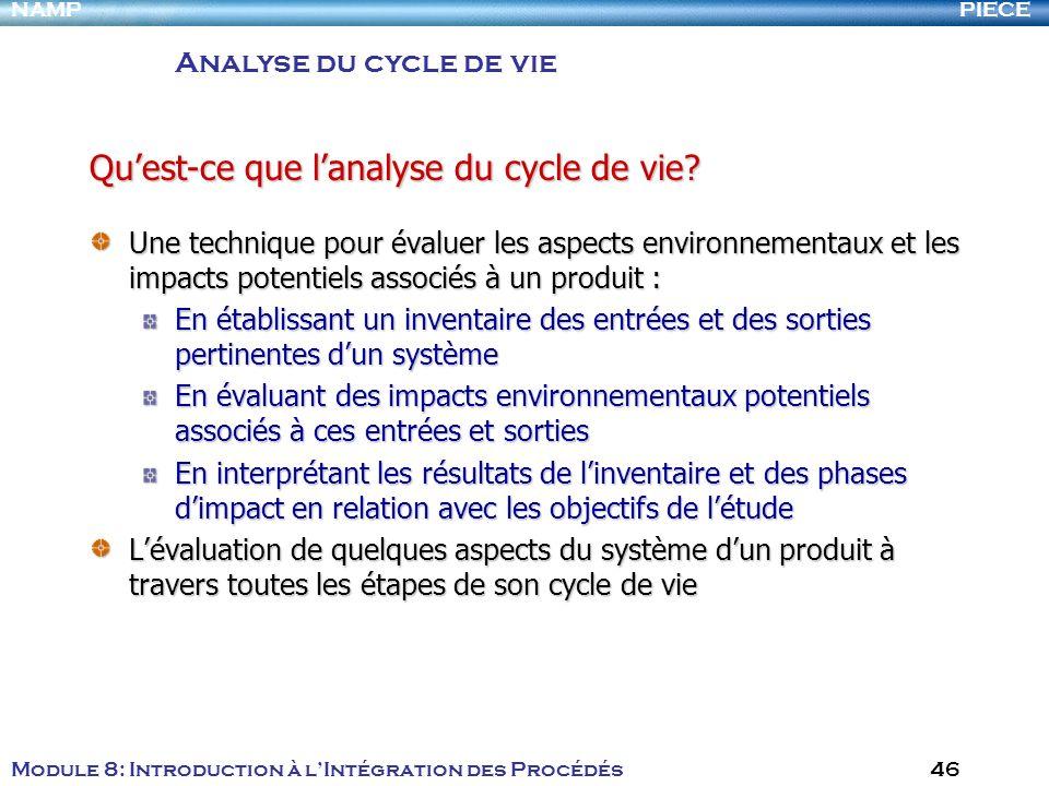 Qu'est-ce que l'analyse du cycle de vie