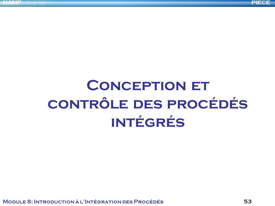 Conception et contrôle des procédés intégrés