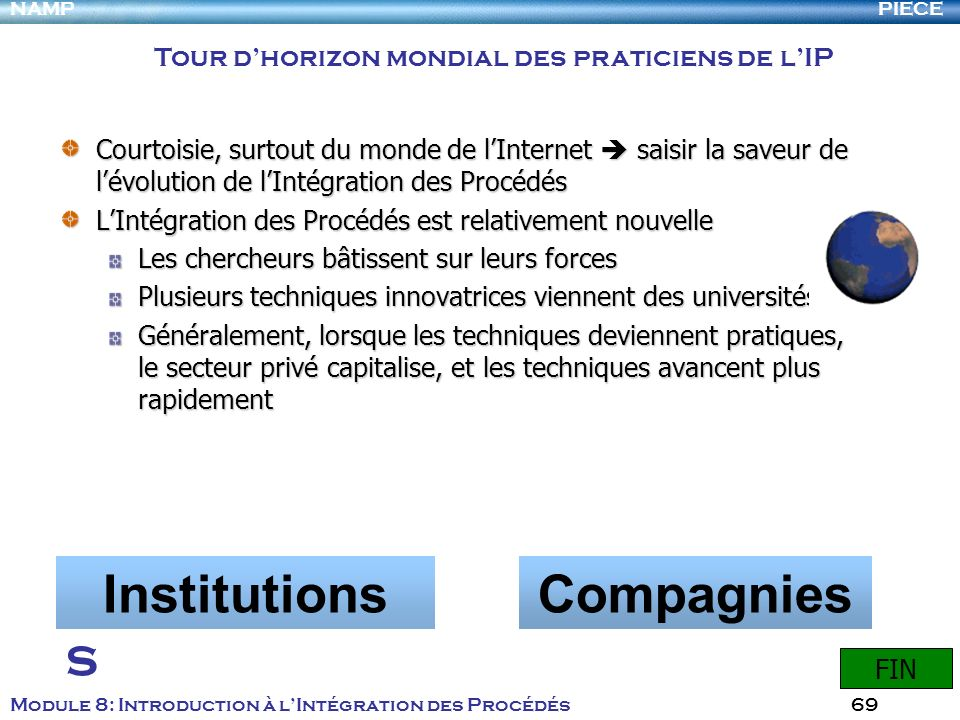 Institutions Compagnies