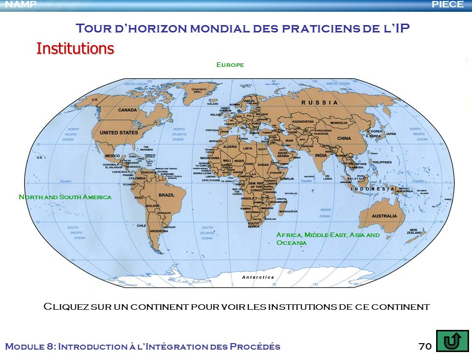 Institutions Tour d'horizon mondial des praticiens de l'IP