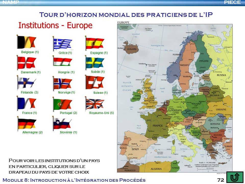 Institutions - Europe Tour d'horizon mondial des praticiens de l'IP