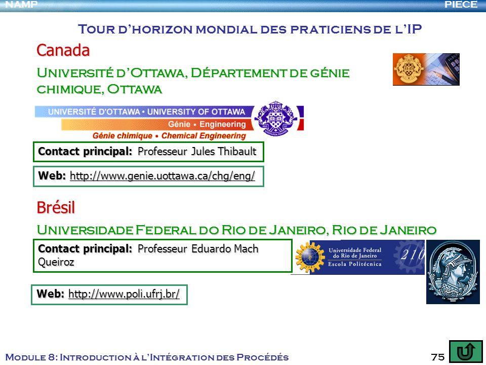 Canada Brésil Tour d'horizon mondial des praticiens de l'IP