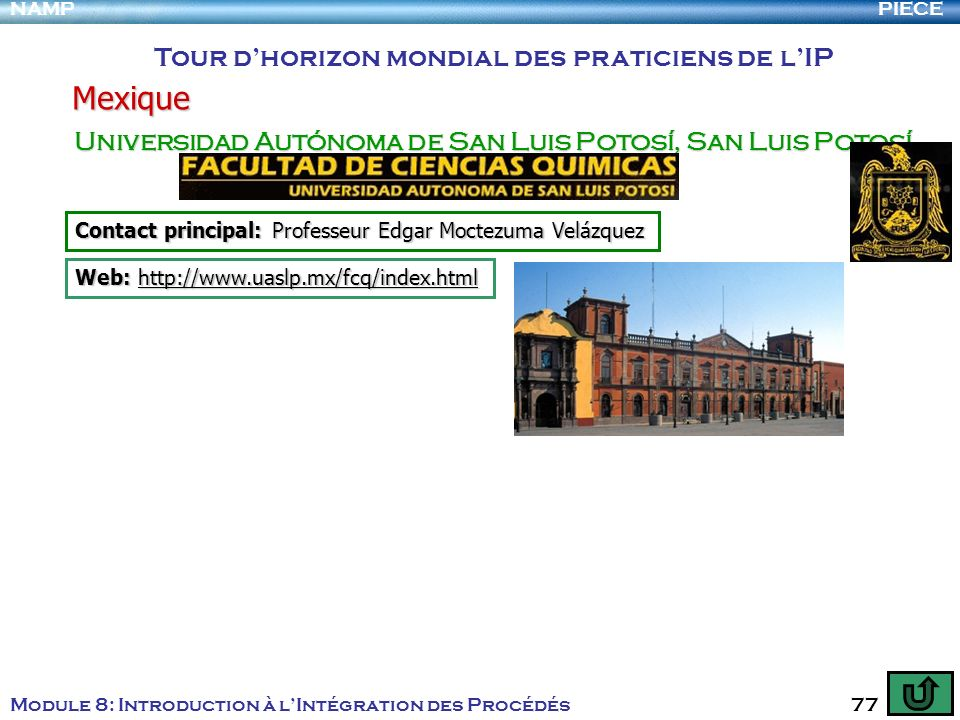 Mexique Tour d'horizon mondial des praticiens de l'IP