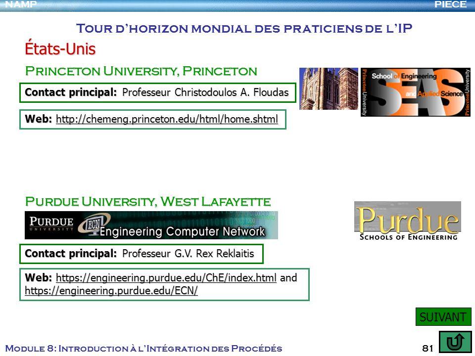 États-Unis Tour d'horizon mondial des praticiens de l'IP