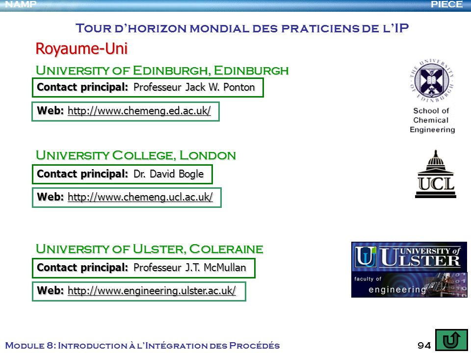 Royaume-Uni Tour d'horizon mondial des praticiens de l'IP
