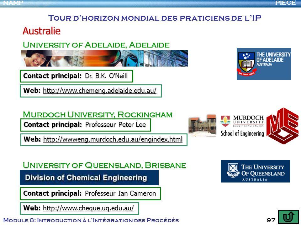 Australie Tour d'horizon mondial des praticiens de l'IP