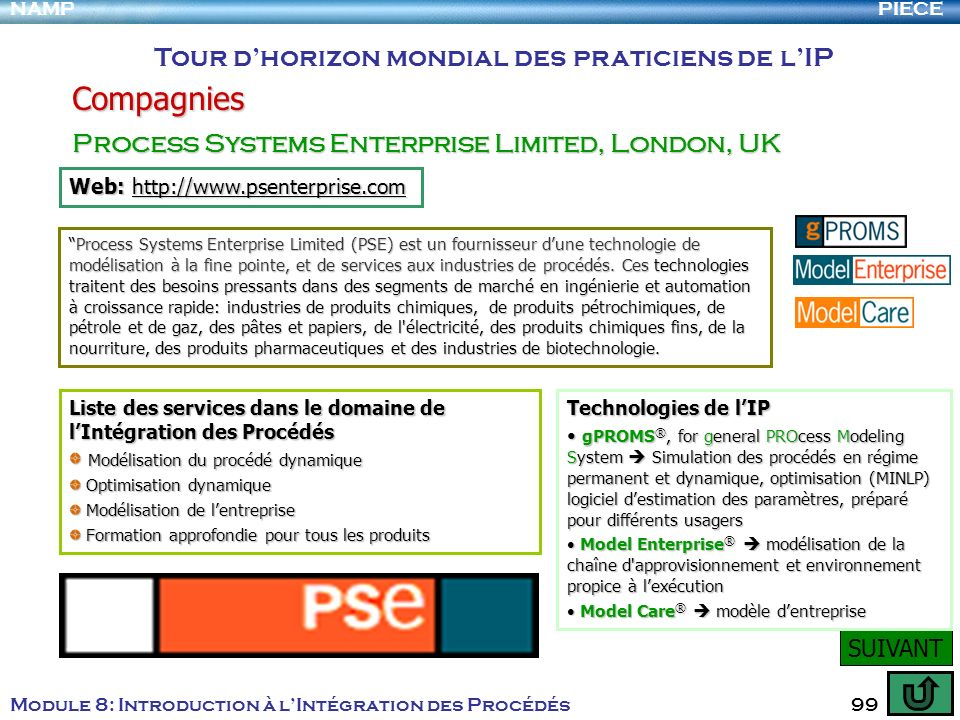 Compagnies Tour d'horizon mondial des praticiens de l'IP