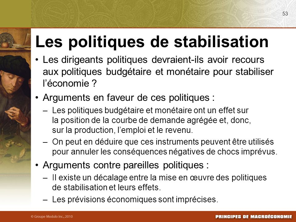 Les politiques de stabilisation