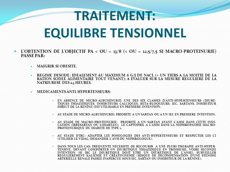 TRAITEMENT: EQUILIBRE TENSIONNEL