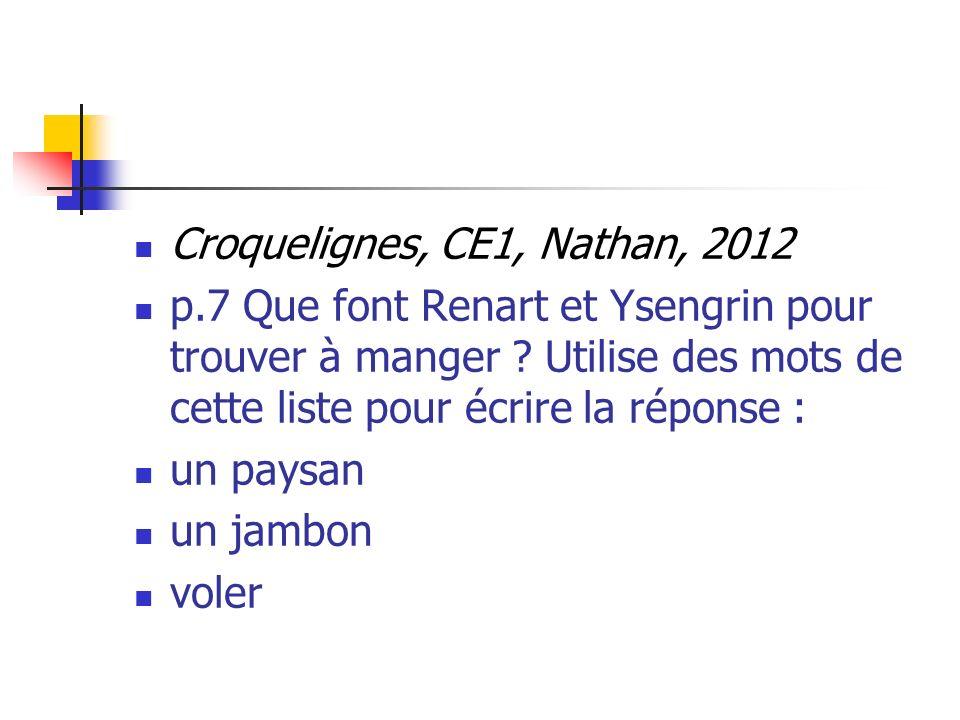 Croquelignes, CE1, Nathan, 2012