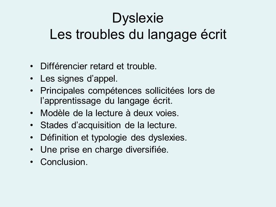 Dyslexie Les troubles du langage écrit
