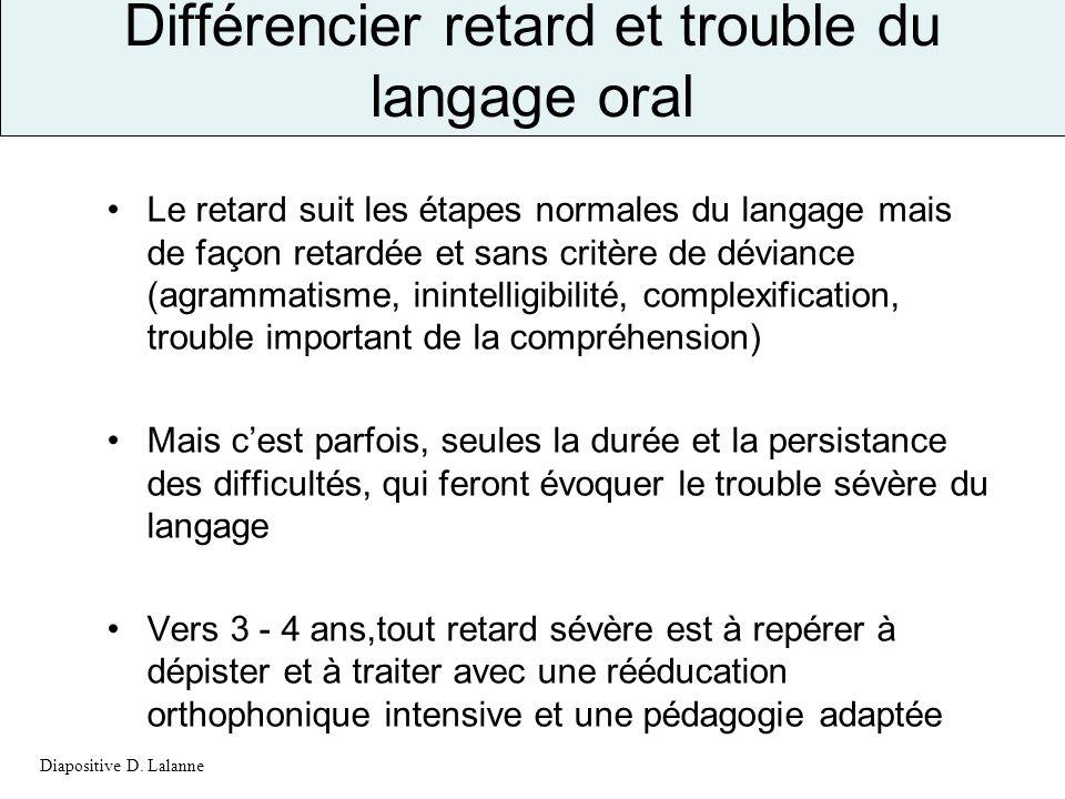 Différencier retard et trouble du langage oral
