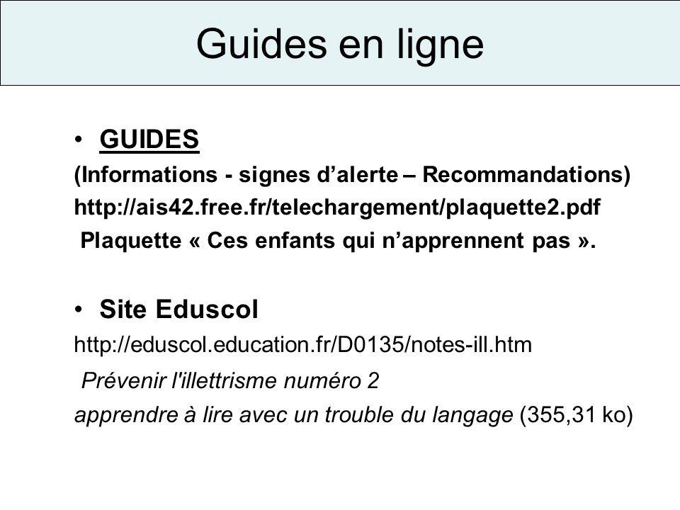 Guides en ligne GUIDES Site Eduscol Prévenir l illettrisme numéro 2