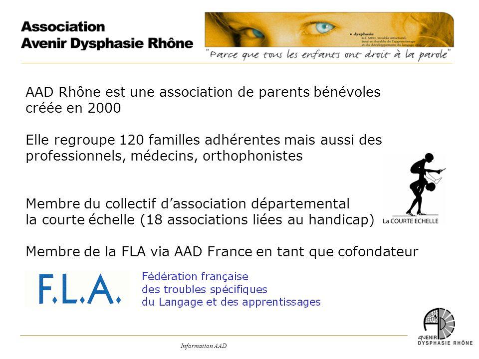 AAD Rhône est une association de parents bénévoles créée en 2000