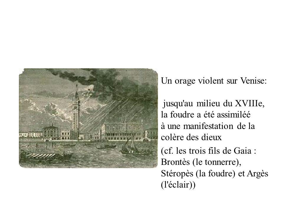 Un orage violent sur Venise: