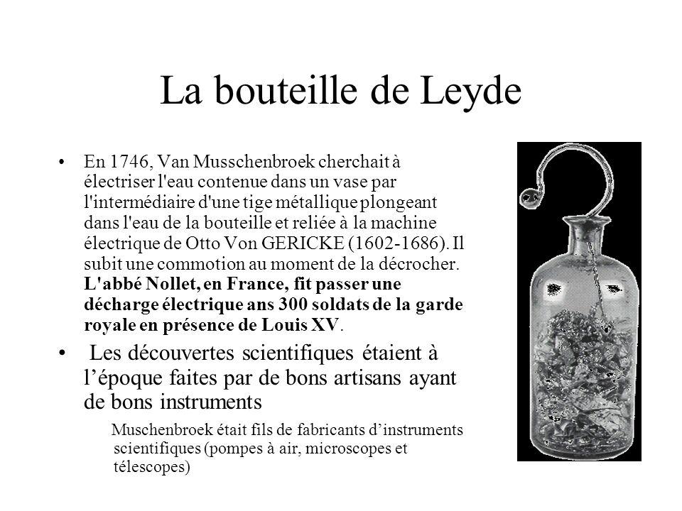 La bouteille de Leyde