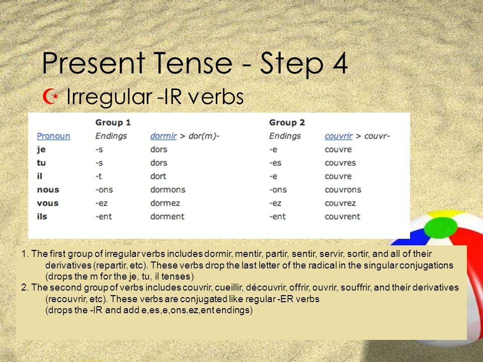 Present Tense - Step 4 Irregular -IR verbs